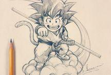 dibujos a lápiz de dragón ball