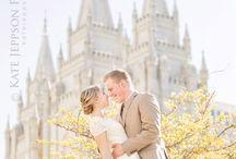 Salt Lake Temple weddings / Wedding photos at the Salt Lake City LDS Temple