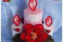 Velas navideñas crochet