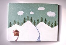 Let it Snow / Everything about Snow, Art, Home Decor, Crafts for cold weather...