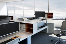 Adjustable Height Desking / In 2012, Innovant introduced integrated electric height adjustability into its FORm_office benching line, subsequently winning Best in Benching at Neocon.