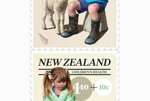 Stamps and Coins / Postage Stamp and Coin Illustration and Design
