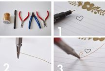 Metal wire work jewelry & Solder rings