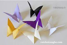 Hướng dẫn cách gấp hình con bướm bằng giấy   Làm đồ trang trí handmade