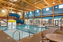Indoor Water Slides / Slip, slide and have fun at one of our indoor water parks.  Available at select locations.