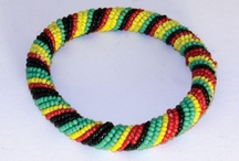 rasta, rainbow, beading, bead crochet, ukośnik koralikowy DIY