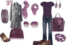 FASHION....wearing pinks & purlpes / mixing accessories with pink and purple
