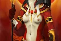 Mother Goddess Sekhmet & Anubis / Egyptian (God)dess Sekhmet & Anubis / by Kesha Kesh
