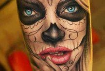 Mexican Skull Tatoo