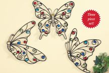 Butterfly Decorations / Collections Etc is your one-stop shop for dozens of unique Butterfly decorations for your Home.  From Indoor Wall art, to outdoor Garden items, you're heart will be a-flutter with excitement when you see all of our great Butterfly products!