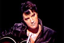 ELVIS PRESLEY / Elvis, my favorite Rock n' Roll Performer of all Time!! Would love to tour Graceland!  I had my picture made in front of the gates to his mansion back in 1973, and attended his concert in Memphis.  Then I attended his concert again in 1975 in OKC, before he passed away.  / by Carolyn Allison