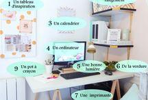 Sweet Desk / Les petits trucs et astuces pour s'organiser
