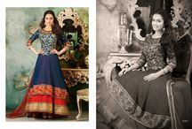 Shraddha Kapoor Anarkali's / Beautiful Georgette Party wear Anarkali's heavily embroidered with Matching Shantoon Bottom and Chiffon Duppatta with fine embroidery work.