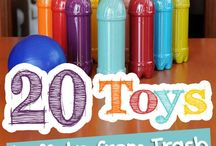 Recycled toys and crafts - community welfare project