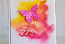 Watercolour ideas / Card ideas using watercolour