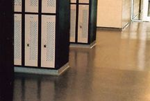 Locker, Shower, Changing Room Flooring / Locker rooms are used in a variety of facilities and endure unique conditions on a daily business. Find out more of our recommended flooring systems. #florock