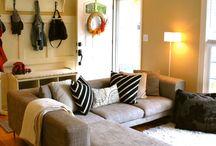 Basement living room decor