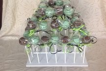 Square Cake Pop Stands / Inspiration for how to use The Smart Baker's Square Cake Pop Stand