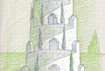 Di_segni case dedicate di BDB / divagazioni architettoniche // case ritratto by Brunetto De Batté