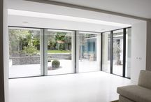 Project: Queens Grove, St Johns Wood / A residential renovation to Grade II listed building in London comprising of multiple sets of Minimal Windows, internal glazing and IQ's flush walk on rooflights
