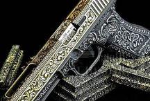 Pistols, revolvers.