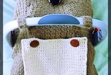 Crocheted Car Seat Canopy's / Crocheted car set canopy's that are unique. / by Sharon Santorum