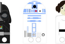 Printable Star Wars finger puppets