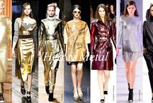 Party Glam: Textured Metallics / Don't be tardy to this party- rich and colorful textured metallics are what to watch for 2015 fashion.