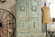 Home Decor-Shabby Chic Sewing Room / by Kenna Macky