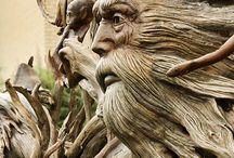 woodcarving hair beard