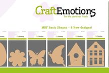 CraftEmotions MDF basic shapes / Shapes for home decoration - mixed media projects.