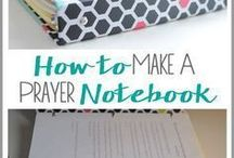 prayer notebook.