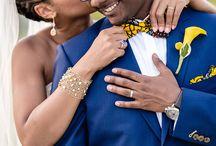 Mariage & pagne / Le pagne de décline joliment dans tous les éléments du mariage : déco, accessoires, tenues des invités... On aime le pagne !