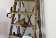 escaleras viejas, rustic ladders