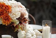 Set the table with COLOR / Bring your holiday table to life with bold and beautiful color.  Red berries, purple textiles, white pumpkins, neutral stoneware - express your creativity and create connection through color.