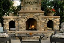 Outdoor Fireplace / Best modern outdoor fireplaces kits and plans with chimney's and different Outdoor Fireplace ideas and designs for inspiration to build you own fireplace. - http://plantedwell.com/outdoor-fireplaces/