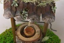 природный материал...дерево...камни...ракушки