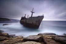 Shipwrecks, ships & boats  / Ships & old abandon ships