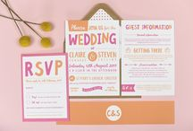 Design suite // Charlie wedding stationery collection / Bright typographical wedding stationery from the Charlie wedding collection by Project Pretty