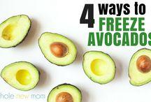 Freezing - avocados etc