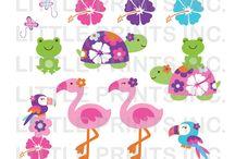 Art & Doodles - Animals - Tropical