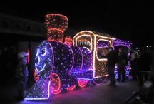 Kolej podświetlona / Ciekawe podświetlenia lokomotyw i pociągów.