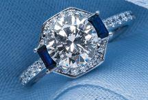 SAPPHIRE/DIAMOND RINGS