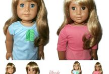American Girl Doll Wigs / All of our great wigs which fit American Girl Dolls!
