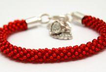 Made By Inati Bead Crochet / Bransoletki koralikowe szydełkowe . Bead Crochet bracelet.