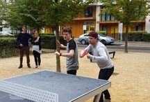 Table Tennis, Olympians, Vloggers and Media! / When UK Number 1 Paul Drinkhall returned to East Village London (the former Athletes Village) and took on E20 bloggers Sam King and Jazza John!