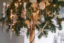 Beach Christmas / Seashell Christmas Ornaments