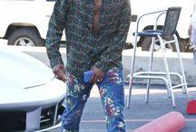 urban male wearing print