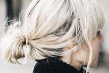 mellanlångt hår