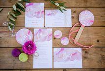 Hochzeitspapeterie / Einladungskarten, Save the Date Karten und Tischkarten für die Hochzeit